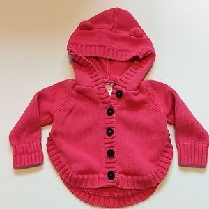 Baby Girl Pink Sweater * Size 6-12M